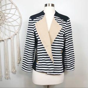 NWOT Chico's Striped Open Blazer